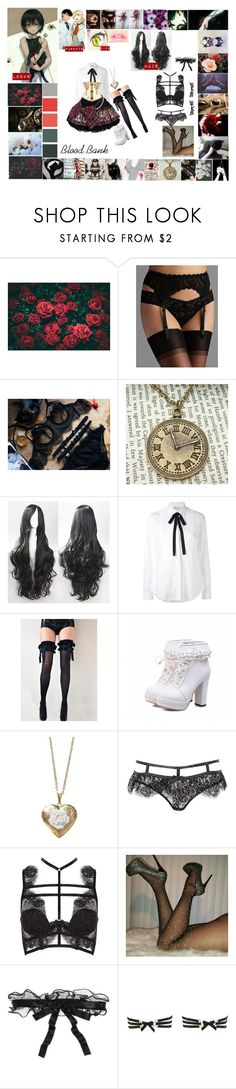 """If I was in Blood Bank: Rose Overlord daughter of Shell and Eric"" by ghostastickitty ❤ liked on Polyvore featuring Nicole Miller, Hanky Panky, GET LOST, RED Valentino, Poporcelain, Agent Provocateur, La Perla and Bordelle"