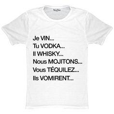 T-shirt homme Je vin Tu vodka. - Meme Shirts - Ideas of Meme Shirts - T-shirt homme Je vin Tu vodka. Papa Shirts, Meme Shirts, Funny Memes, Hilarious, Jokes, Meme Meme, Funny Shirts Women, Dad Humor, Funny Bunnies
