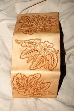 Like the patttern - Hand Tooled Leather Wallet