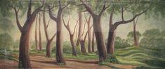 Forest Landscape on Scrim