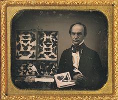 ca. 1850, [daguerreotype portrait of a gentleman butterfly collector] via the George Eastman House Collection, Still Photograph Archive