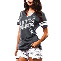 Chicago Colorado Rockies Women's Success Is Earned Notch Neck T-Shirt - Black - $23.99