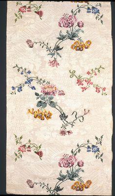 Dress fabric | Garthwaite, Anna Maria | V&A Search the Collections, silk, 1749