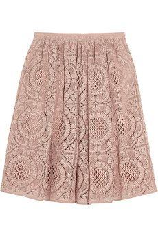 Burberry London Cotton-blend lace skirt | NET-A-PORTER