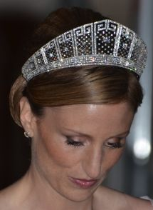 Princess Sophie of Isenburg, the wife of Prince Georg Friedrich of Prussia, surprised many by donning the Prussian Meander Tiara at her wedding reception in 2011