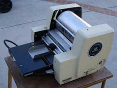 Mimeograph Machine...remember the smell of the new copies