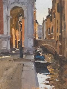 Scuola Grande di San Rocco.   10-31-14A friend pointed out, when he saw the little video of this painting, that Sargent had painted it before me. I thought It had seemed familiar, but that's Venice all over. Everything seems familiar.