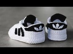 Zapatitos Adidas Para Bebe a Crochet - YouTube
