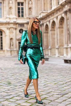 Anna Dello Russo in Dolce and Gabbana