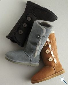 UGG Bailey Button Tall Boots [ Ugg Boots Cyber Monday www. Uggs For Cheap, Ugg Boots Cheap, Boots Sale, Tall Boots, Snow Boots, Winter Boots, Fur Boots, Winter Rain, Cute Shoes