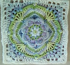 I am planning to do a spring blanket with mostly Jen Tyler squares. De Rust - 1 completed - happy with the results (measures 20cm square). Moonlight Owl - 1 completed - I replaced the last 2sc ro...