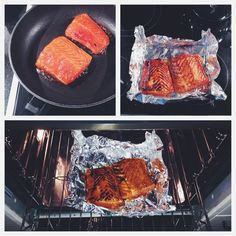 Step by Step instruction how to cook and roast your salmon