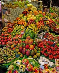 Welcome to one of my very favourite places, this heavenly fruit market. This abundant place in Barcelona is where I get from my most special fruit treats/exotic and tropical ones. Repost/Caption 📷 Use to be featured . Fruit Stands, World Market, Mexico Travel, Mexico City, Going Vegan, Fruits And Veggies, Juicing Vegetables, Belle Photo, Farmers Market