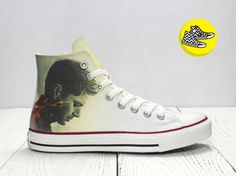 Winchester Supernatural inspired custom Converse All Star Dean and Sam all  star high top chuck taylor shoes 7f61afe00112f
