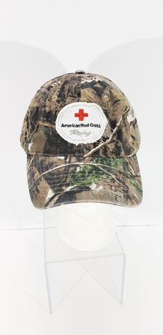 American Red Cross Racing Camo Adjustable Strapback Cap Hat NWT New With Tag 9e95b5e0490a