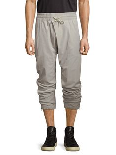 HELMUT LANG MEN'S OVERLAP JOGGER PANTS - GREY, SIZE S. #helmutlang #cloth #