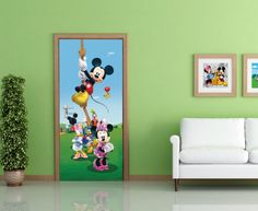 Disney Mickey Mouse Kids Mural By WallandMore. Can be applied both on the wall and door.