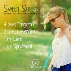 There's nothing sweeter than the smell of summer, and this diffuser blend provides just that and more! Tangerine and Lime essential oils have a sweet, tangy aroma that is uplifting and supports a healthy immune and respiratory system. Lavender has a soft, Citrus Essential Oil, Citrus Oil, Essential Oil Diffuser Blends, Doterra Essential Oils, Doterra Diffuser, Yl Oils, Young Living Oils, Young Living Essential Oils, Diffuser Recipes