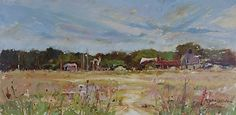 Birds of a Feather by Kathie Odom Oil on Linen ~ 12 x 24