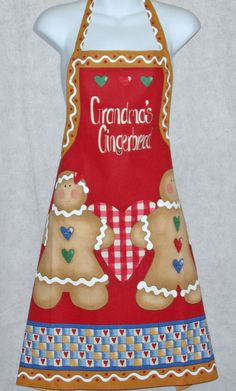 Grandma's Gingerbread Cooking  Apron Free Personalization #CustomMadeForYou