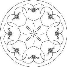 Pattern Detail | Hearts & Daisies Round | Needlecrafter