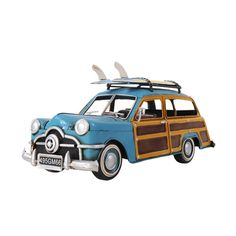 Old Modern Handicrafts 1949 Ford Wagon Car and Surfboards 1:12 Scale Model