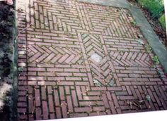 I have been saving these photos of a brick walkway for years.                                                                                  Although it is a walk, there are benches on both sides…
