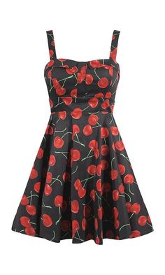 f889f5a840 cherry bomb pinup print ixia dress retro rockabilly style Retro Dress