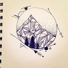 Simplistic geometric mountains