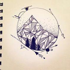 Simplistic geometric mountains