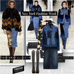 NYFW Fall 2015 Trend Forecast 70's Patchedworked Denim