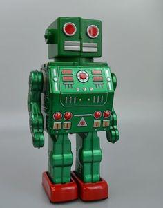 green bleep bleep #robot #green #retro