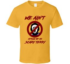 We Ain't Afraid Of No Scary Terry Cleveland Cavaliers Ain't Afraid Of No Ghost T Shirt