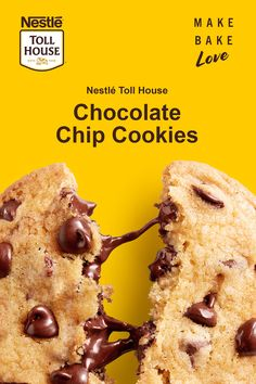 It's not a chocolate chip cookie without Nestle Toll House Semi-Sweet Chocolate Morsels! Our Original Nestle Toll House Chocolate Chip Cookies are the best gift for those you love! Click through for the full recipe! Nestle Chocolate Chip Cookies, Chocolate Morsels, Chocolate Chio Cookie Recipe, Original Toll House Chocolate Chip Cookie Recipe, Chocolate Chocolate, Nestle Toll House Cookies Recipe, Original Nestle Toll House Cookie Recipe, Healthy Chocolate, Crack Crackers