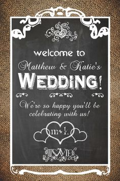"Wedding Welcome Sign! Poster-size printable is 20""x30"". DIY and Save! Only $5.00.  http://www.customweddingprintables.com/#!wedding-signage-collection/c2pr"
