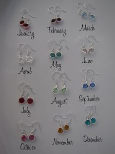 Birthstone Earrings  on Sterling Silver Ear by MotherDaughterJewel, $10.00