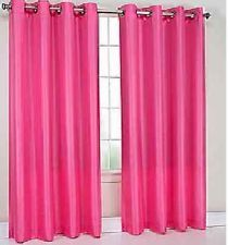 2 Panels Blackout Hot Pink Grommet Silk Window Curtain Lined 39 Room