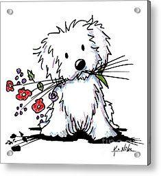 Garden Helper Acrylic Print by Kim Niles