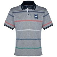 RBS Six Nations Classic Striped Jersey Polo - Mens - Grey