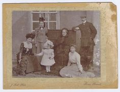 BECKINGTON Family at Standerwick Court - Antique Photo c1900 by Bell of Frome