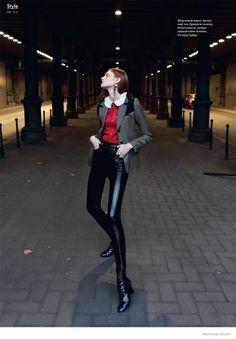 Anastasia Ivanova Models Louis Vuitton Fall 2014 for SnC by Nikolay Biryukov