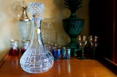 Vintage French Crystal decanter, Vintage decanter, Vintage wine decanter, Whisky decanter, Spirits decanter, Man cave decor, Vintage barware