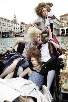Jane, Chelsey and Ann: Cycle 15: Photo Shoot 7 - Gondola Group Shot with a Cassanova - ANTMworld