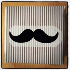 Moustache gift. Paper: ikea, scotch: Tiger
