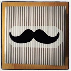 Moustache gift. Paper: ikea, scotch: Tiger