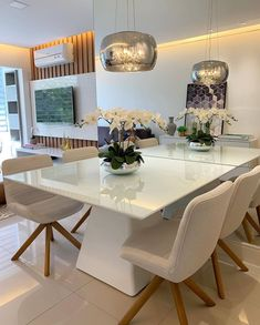 Interior Living Room Design Trends for 2019 - Interior Design Dinner Room, Beautiful Dining Rooms, Dining Table Design, Home Decor Kitchen, Home And Living, Living Room Decor, Sweet Home, Interior Design, Decoration