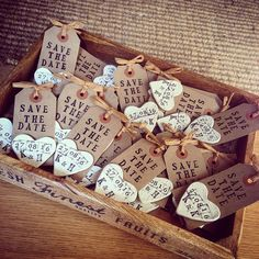 Save The Date Handmade Rustic Tags With Clay Magnet