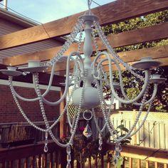 DIY outdoor chandelier  Http://patricalombardi.tumblr.com