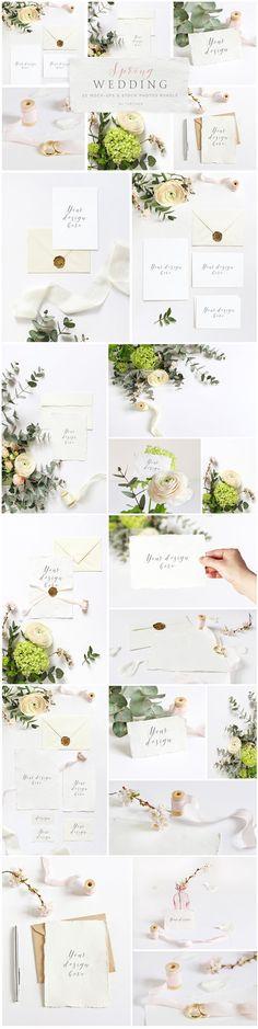 Spring Wedding mockups, stock photos by Tabita's shop on @creativemarket