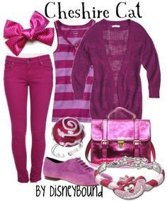 In case you don't want to wear a dress...this one is with pants @Simona Dedek Smith Cheshire Cat casual girl's outfit - Alice in Wonderland